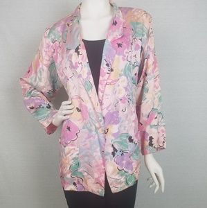 Vintage 60's/70's abstract floral print blazer
